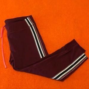 *3for$30* MPG burgundy sport pants/capris EUC